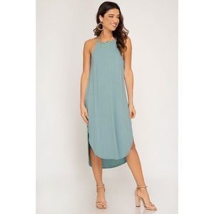 Heather Cami Midi Dress - Seafoam